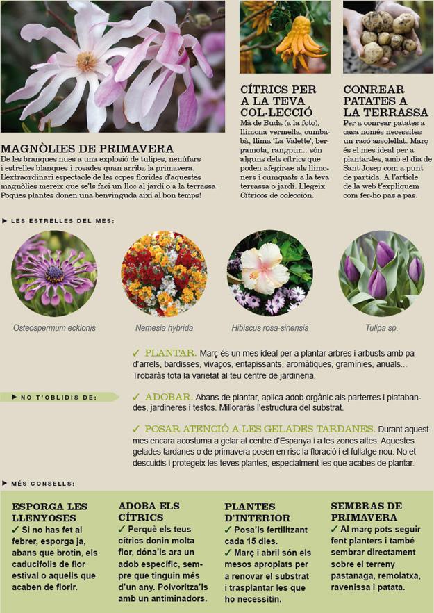 Agenda del jardí de Març
