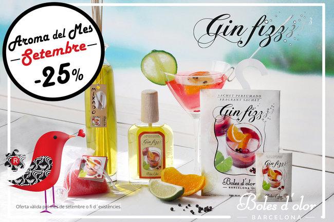 """""""Gin Fizz"""": aroma del mes de Boles d´Olor amb un 25% de descompte."""