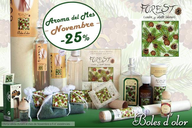 """""""Forest"""": aroma del mes de Boles d´Olor amb un 25% de descompte."""