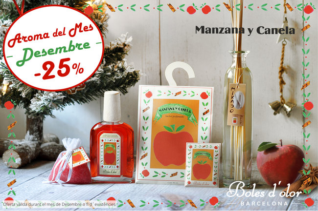 """Manzana y Canela"": aroma del mes de Boles d´Olor amb un 25% de descompte."
