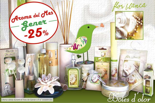 """""""Flor Blanca"""": aroma del mes de Boles d´Olor amb un 25% de descompte."""