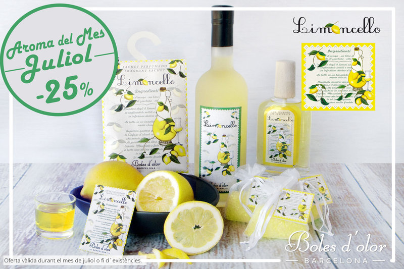"""Limoncello"": aroma del mes de Boles d´Olor amb un 25% de descompte."
