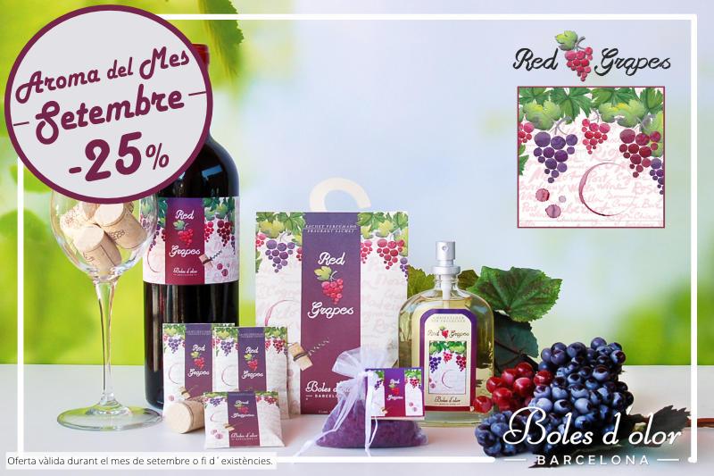 """""""Red Grapes"""": aroma del mes de Boles d´Olor amb un 25% de descompte."""