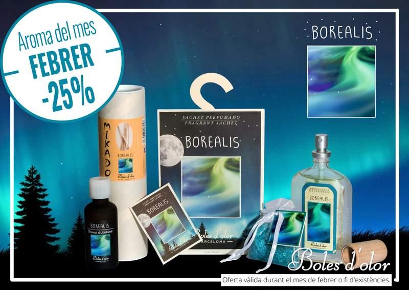 """""""Borealis"""": aroma del mes de Boles d´Olor amb un 25% de descompte"""