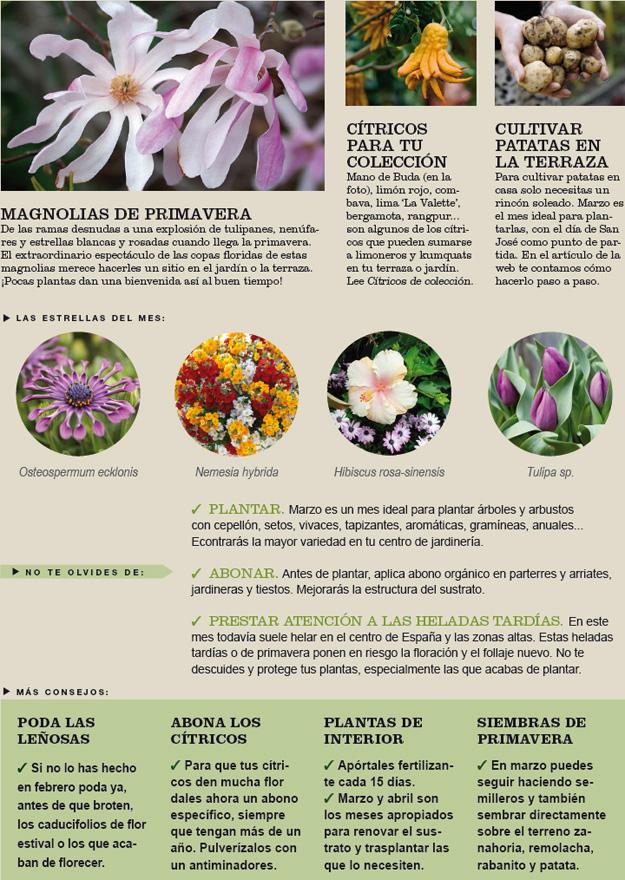 Agenda del jardín de Marzo