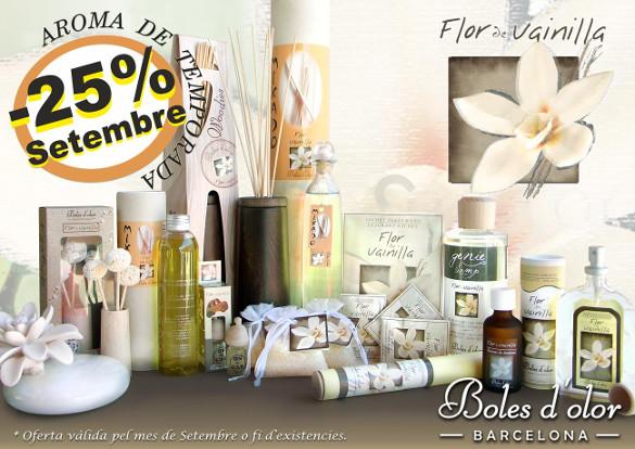 Flor de Vainilla: aroma del mes de Boles d'Olor con 25% de descuento.