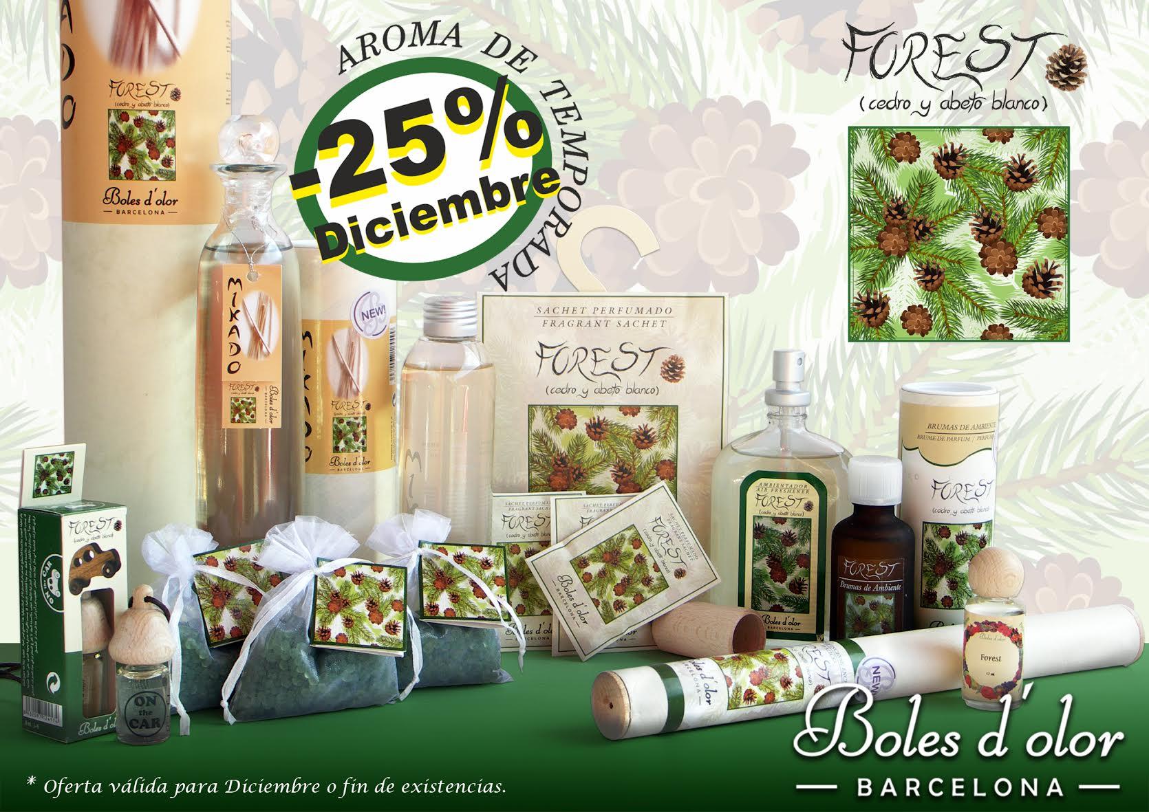 Forest: aroma del mes de Boles d'Olor con 25% de descuento.