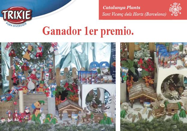 Catalunya Plants, ganador del VI Concurso Trixie de escaparatismo navideño.