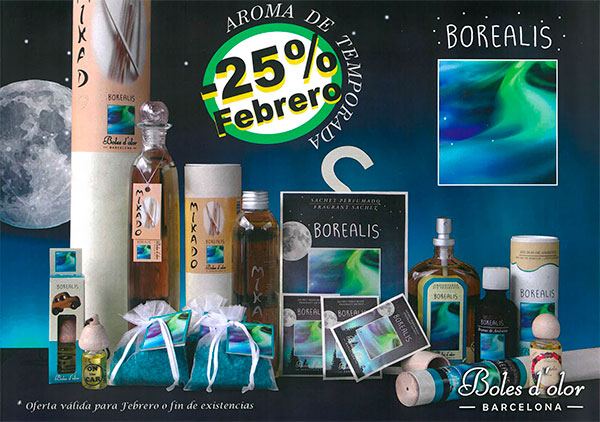 Borealis: aroma del mes de Boles d'Olor con 25% de descuento.