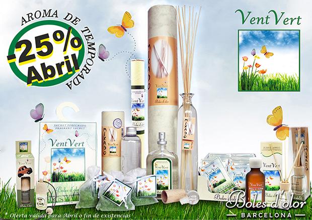 Vent Verd: aroma del mes de Boles d'Olor con 25% de descuento.