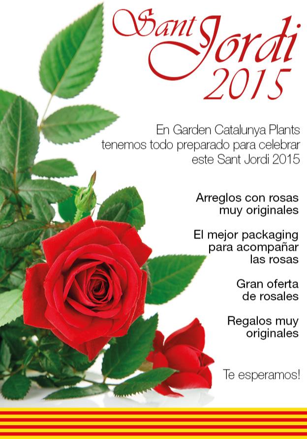 Todo preparado para celebrar el día de Sant Jordi 2015.