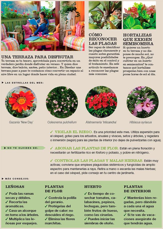 Agenda del Huerto y Jardín de Julio