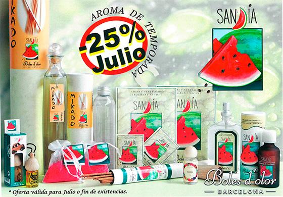 Sandia: aroma del mes de Boles d'Olor con 25% de descuento.