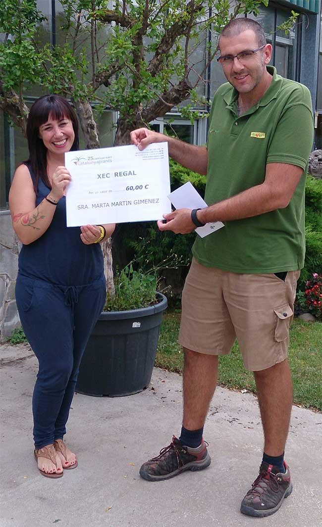 ganadora-cheque-regalo-junio-2015-garden-catalunya-plants
