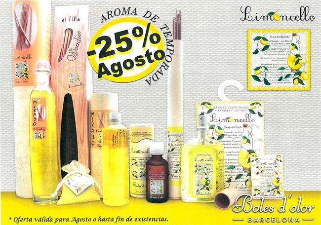 Limoncello: aroma del mes de Boles d'Olor con 25% de descuento.