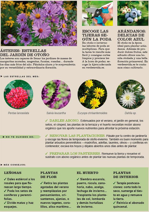 Agenda del Huerto y Jardín de Septiembre