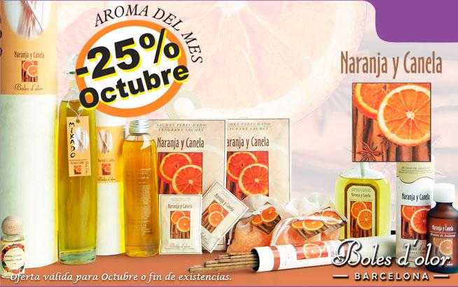 Naranja y Canela: aroma del mes de Boles d'Olor con 25% de descuento.