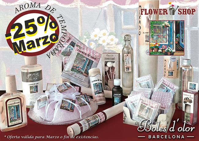 Flower Shop: aroma del mes de Boles d'Olor con 25% de descuento.