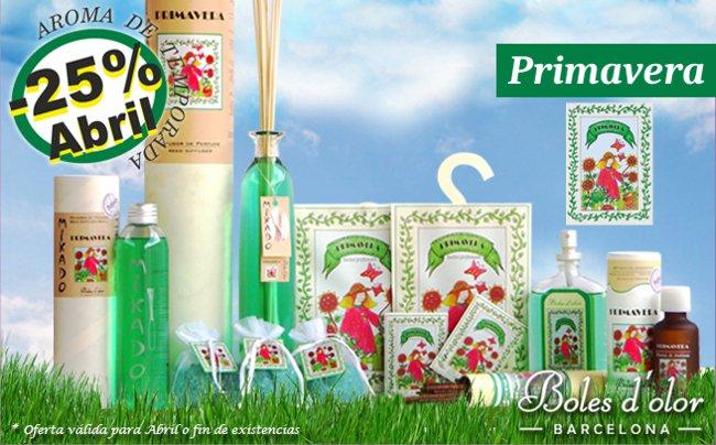 Primavera: aroma del mes de Boles d'Olor con 25% de descuento.