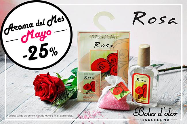 Rosa: aroma del mes de Boles d'Olor con 25% de descuento.