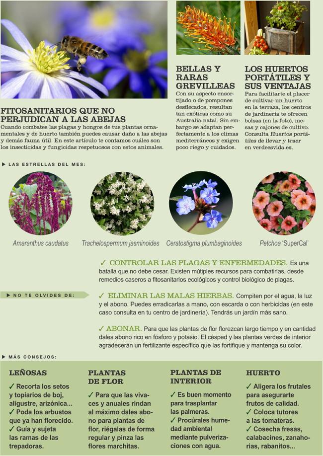 Agenda del Huerto y Jardín de Junio.
