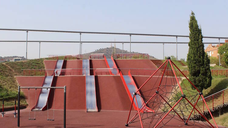 Toboganes gigantes de Barcelona.