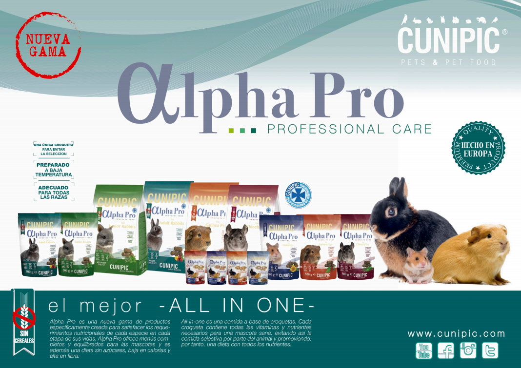 Alpha pro: primera dieta all-in-one de Cunipic.