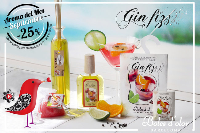Gin fizz: aroma del mes de Boles d'Olor con 25% de descuento.