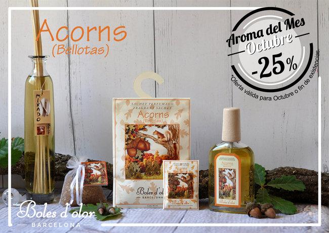 Acorns: aroma del mes de Boles d'Olor con 25% de descuento.