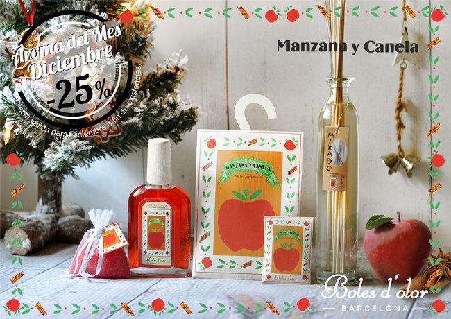 """""""Manzana y Canela"""": aroma del mes de Boles d'Olor con 25% de descuento."""