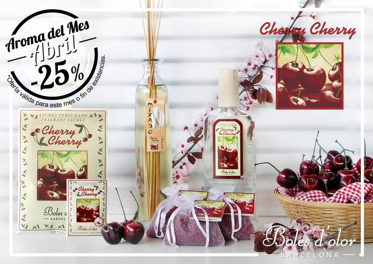 """Cherry Cherry"": aroma del mes de Boles d'Olor con 25% de descuento."