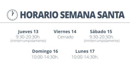 Nuestro horario en Semana Santa
