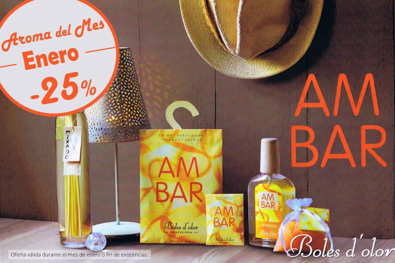 """""""Ambar"""": aroma del mes de Boles d'Olor con 25% de descuento"""