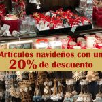 Artículos navideños con un 20% de descuento